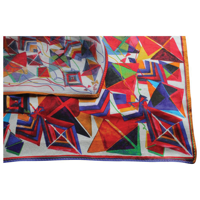 G173 Printed Silk Square Scarf - Full Colour