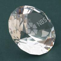 G147 60mm Crystal Diamond Paperweight