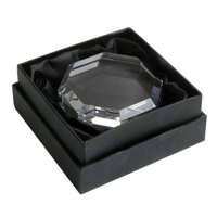 G147 Optical Crystal Octagon Paperweight