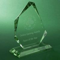 G148 15cm Jade Glass Facetted Ice Peak Award