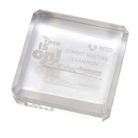G147 Crystal Square Paperweight