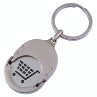 Oval Trolley Coin Keyrings