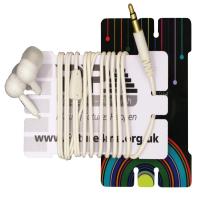 Plastic Earphone Winder Cards