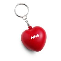 Stress Heart Keyrings