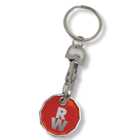 G098 Stamped Trolley Coin Key Ring