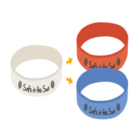 UV Printed Silicone Wristbands