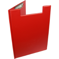 A4 Folder Clipboard - Available in Red Black White or Blue