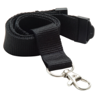 20mm Flat Polyester Lanyard (UK Stock: Available In 13 Stock Colours)