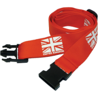 Printed Luggage Strap With Plastic Buckle & Adjuster (Screen Print)