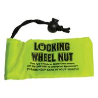 Small Locking Wheel Nut Bag (120x60mm: Microfibre)