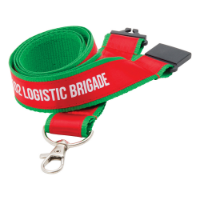 25mm Printed Satin Applique Lanyard