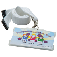 Rigid Card Holders Landscape - Available in Black Blue Red or Clear.