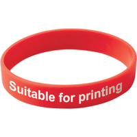 Adult Silicone Wristband (UK Stock) - Available in Red Blue Green or Yellow