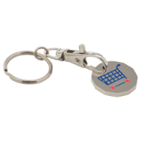 Trolley Coin Keyring Stamped Iron Soft Enamel Infill