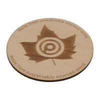 Wooden Coaster (90mm Diameter: 3mm Thick)