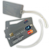 Luggage Tag - Credit Card Style - 2 Cards