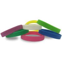 Single Colour Wristband - Debossed/Sunken In