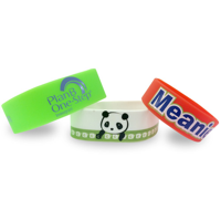 Single Colour Wristband - Large Width - Printed