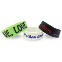 Single Colour Wristband - Large Width - Debossed/Sunken with Colour Fill In