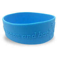 Single Colour Wristband - Large Width - Embossed/Raised