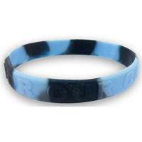 Multi Colour Wristband - Embossed/Raised