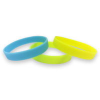 Silicon Wristbands - Glow In The Dark - Printed