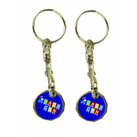 Trolley Coin Keyring - Printed - 2 Sides