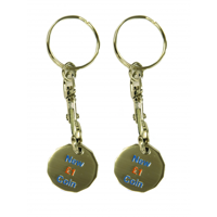 Trolley Coin Keyring - Enamelled - 2 Sides