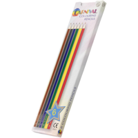 Carnival Colouring Pencils Full Size 6 Pack (Full Colour Print)