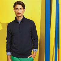 Men'S Cotton Blend ¼ Zip Sweatshirt