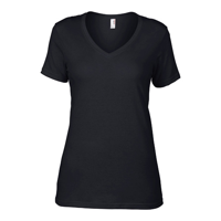 Anvil Women'S Featherweight V-Neck Tee