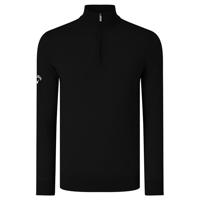 Ribbed 1/4 Zip Merino Sweater