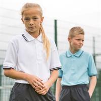 65/35 Kids Tipped Piqué Polo Shirt