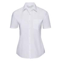 Women'S Short Sleeve Polycotton Easycare Poplin Shirt