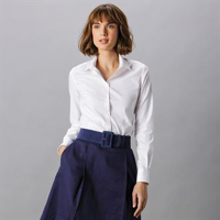 Women'S Stretch Oxford Shirt Long-Sleeved (Tailored Fit)