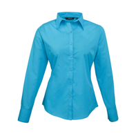 Women'S Poplin Long Sleeve Blouse