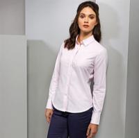 Women'S Cotton-Rich Oxford Stripes Blouse