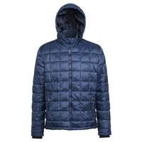 Box Quilt Hooded Jacket