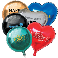 Metallic Foil Balloons (18inch) - Rounds & Hearts