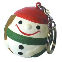 Stress Snowman Keyring