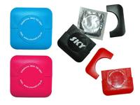 Square Plastic Condom Cases Pad Print