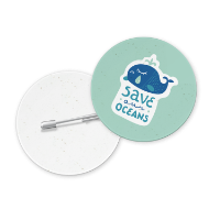 Seeded Paper Button Badge (1PP)