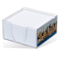 Acrylo Memo Block with Paper Refill - Medium (Full Colour Print)