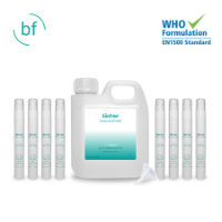 Hand Sanitiser - 1L Jerry Can with 8 x 10ml Atomiser & Funnel (Generic Biofree Label)