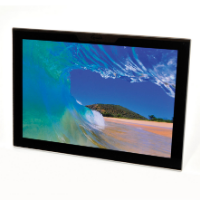 Jet Glass Wall Mount - Insert Size 297 x 420mm (Full Colour Print)