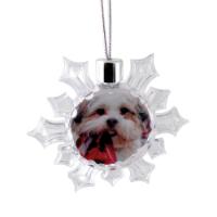 Snowflake Ornament - Clear (Full Colour Print)