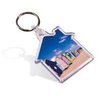 Picto Keyring - House (Full Colour Print)