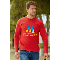 Fruit of the Loom Long Sleeve Value T-Shirt - Coloured (Transfer Print - 305 x 305mm)