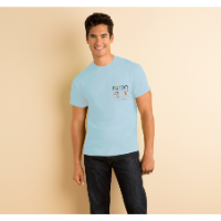 Gildan Heavy Cotton T-Shirt - Coloured (DTG Print - 102 x 102mm)