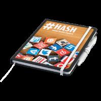 Nero A5 Notebook with Contour Ballpen (De-Dome Print)